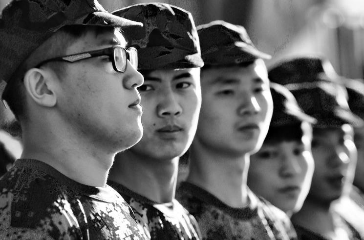 北音2014级新生军训现场