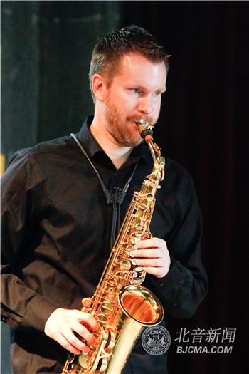 国 全球之声 萨克斯四重奏乐队做客北京现代音乐研修学院大师讲堂