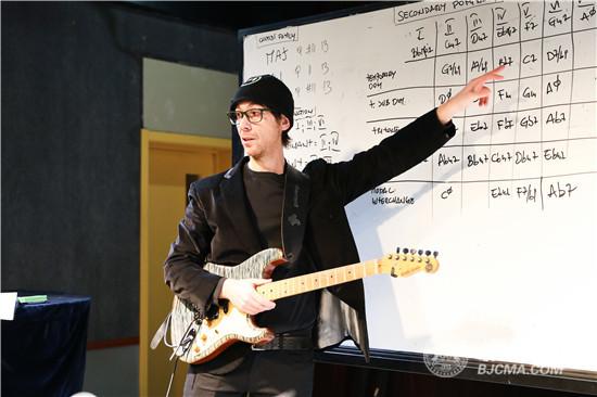 美国著名吉他手Gennaro Esposito做客北京现代音乐研修学院大师讲堂